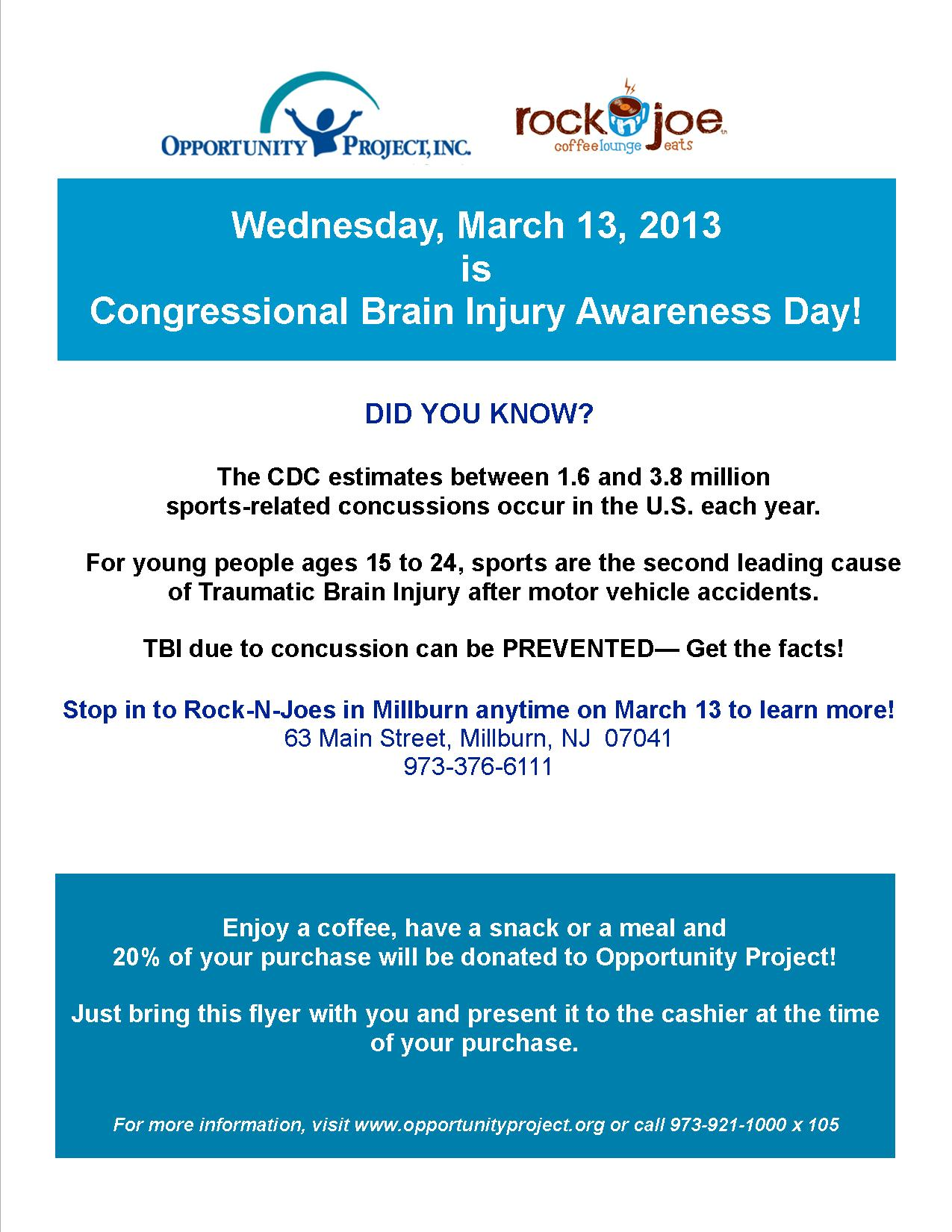 March is Brain Injury Awareness Month! : Opportunity Project ...