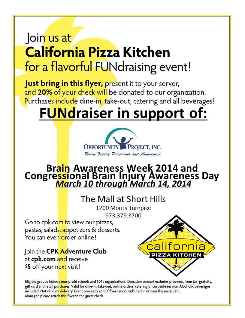 Opportunity Project California Pizza Kitchen Flyer : Opportunity ...